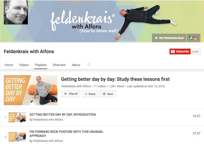 Feldenkrais With Alfons YouTube